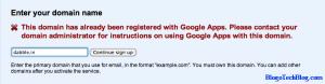 Domain already registered