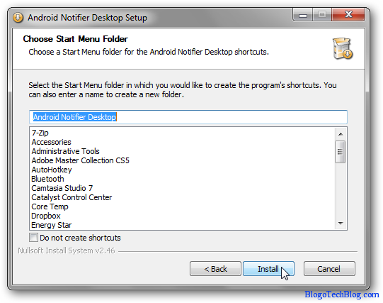 Install Android Notifier