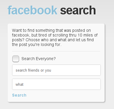 Social Searching-Facebook