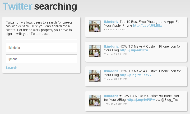 Social Searching-twitter