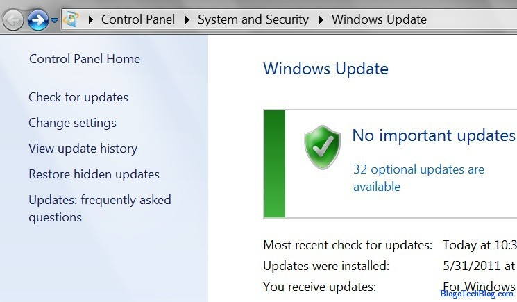 Disable Automatic Updates in Windows