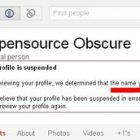 google+ suspended profile