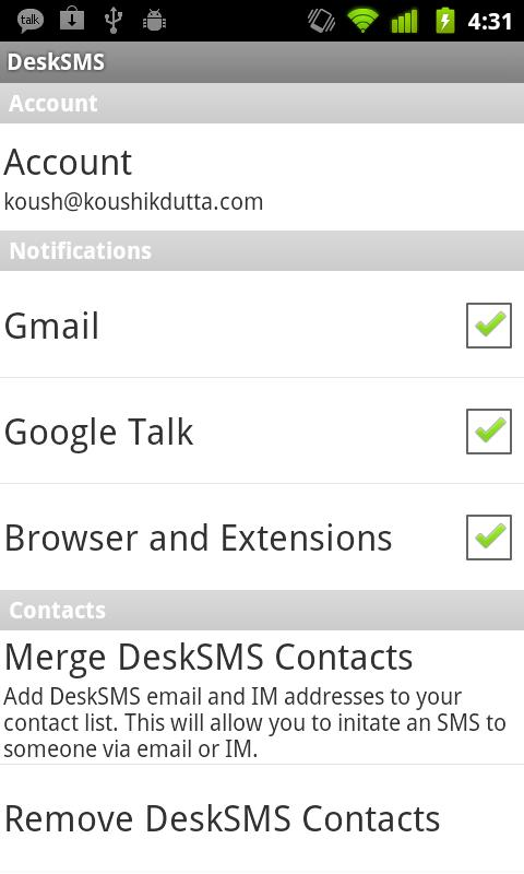 DeskSMS Android