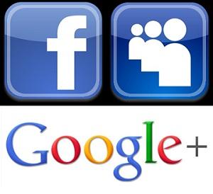 Facebook Myspace Google Plus