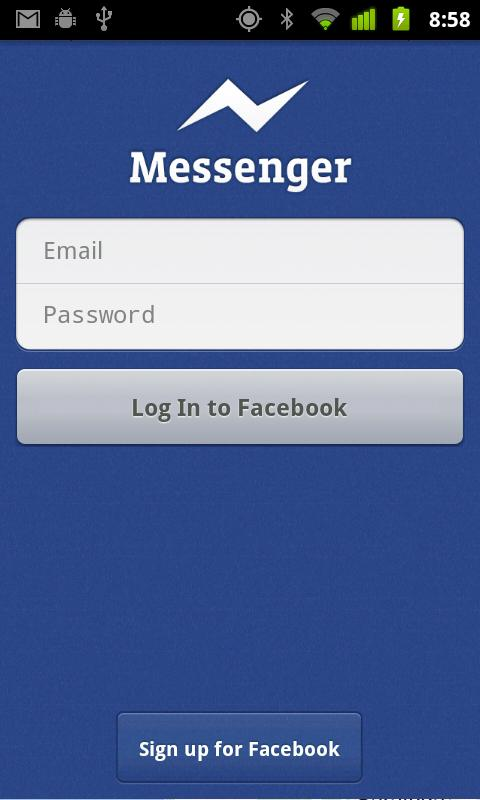 Facebook messenger sign in