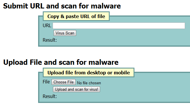 Free online antivirus tool