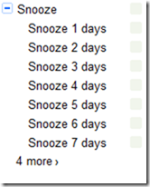 Snoooze Gmail messages