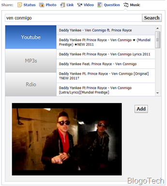 stream Youtube videos in Facebook