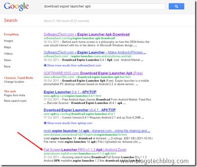 Espier Launcher Search Results