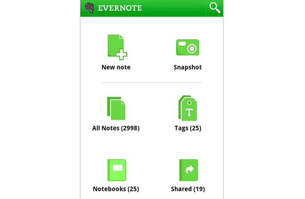 evernot Android