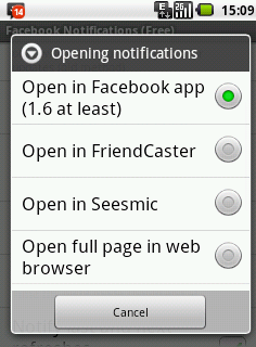 Open Notifications