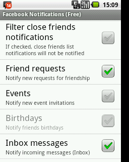 Filter Notifications