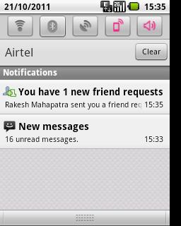 Facebook Friend Request Notification