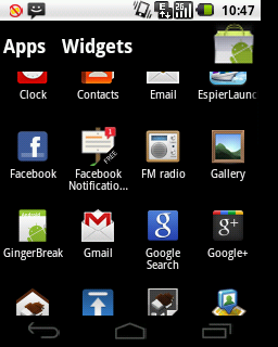 ICS LauncherApp Drawer
