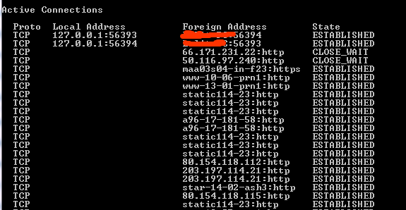 Active Connections with IP Address