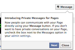 Private Messages for Facebook Pages