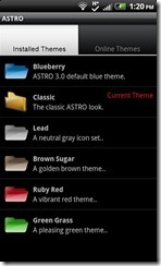 ASTRO File Manager Themes