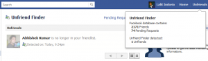 Find who rejects friend request on facebook