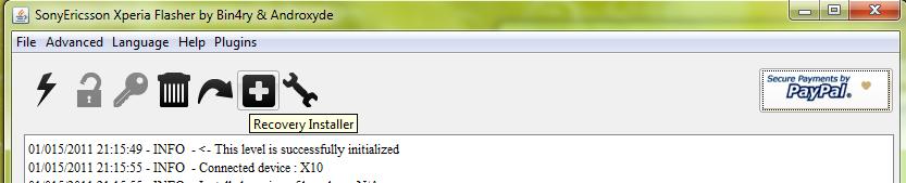 install clockworkmod recovery on sony xperia x8