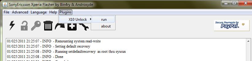 Unlock Xperia X10 Bootloader