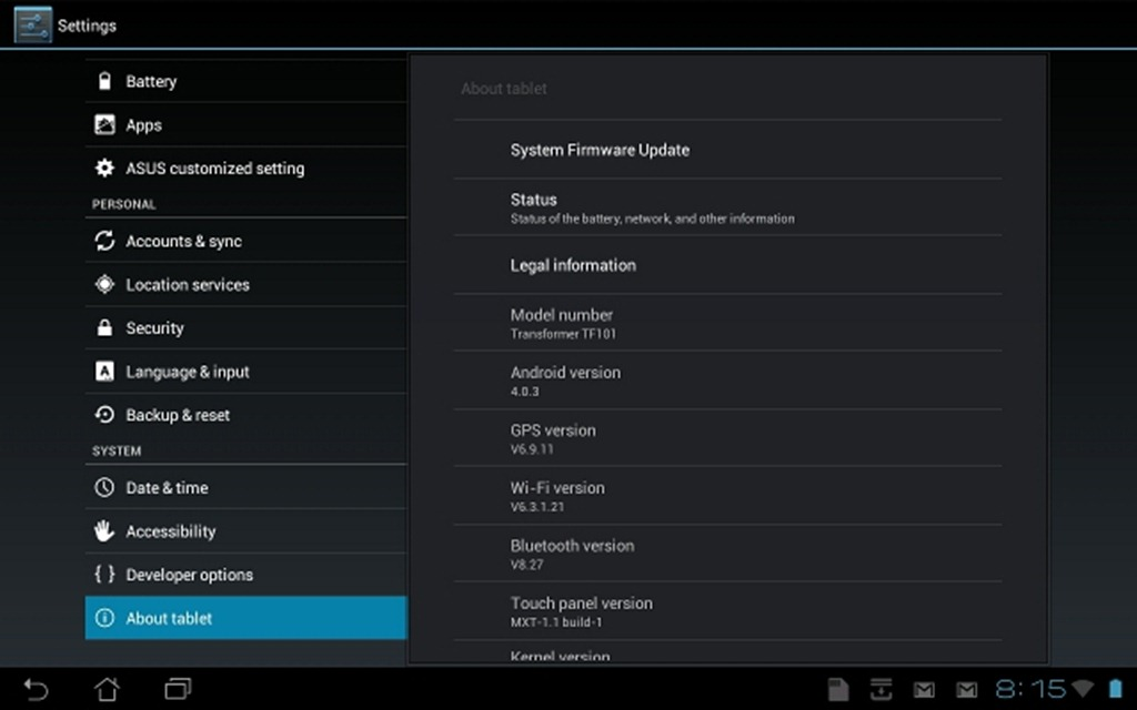 Asus Eee Pad Transformer TF101 Android 4.0 ICS ROM