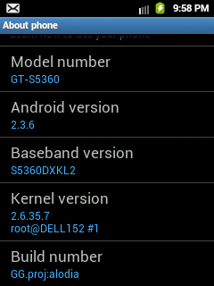 Custom ROM for Samsung Galaxy Y