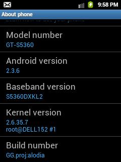 Custom ROM for Samsung Galaxy Y