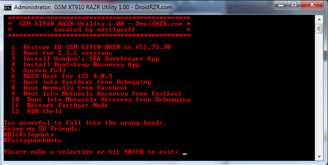 Root Motorola Droid RAZR on ICS, Gingerbread & Install Recovery