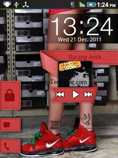 Lock Screen of MIUI ROM on LG Optimus Me P350