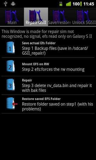 Recover IMEI number on Samsung Galaxy SII