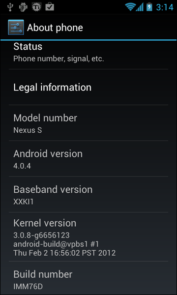 IMM76D on Galaxy Nexus S