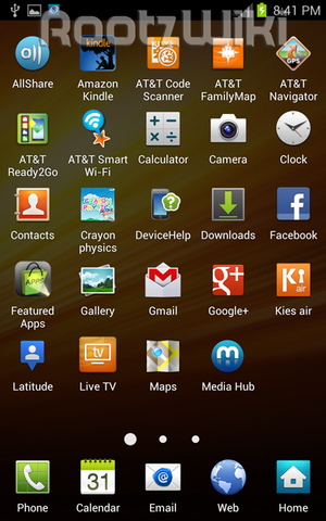 official ICS on AT&T Samsung Galaxy Note