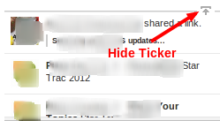 Hide Facebook Ticker