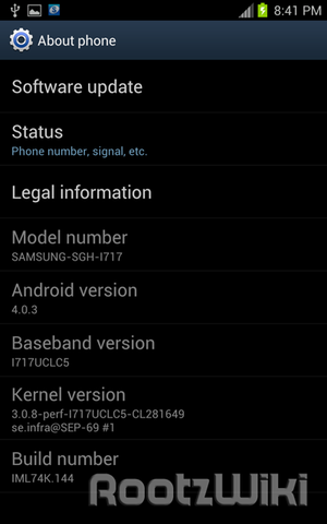 Ice Cream Sandwich on AT&T Samsung Galaxy Note