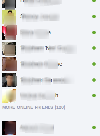 hide offline friends on facebook chat