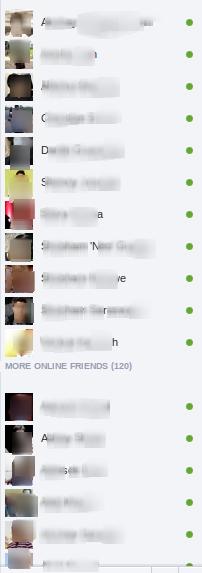 hide offline friends on facebook chat
