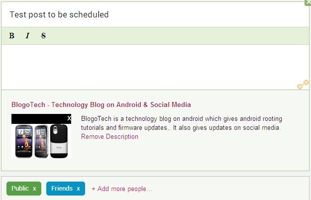 Schedule Google+ Posts
