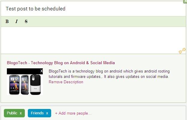 Schedule Google+ Posts