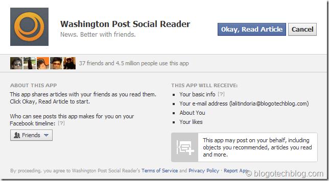 waashington post social reader