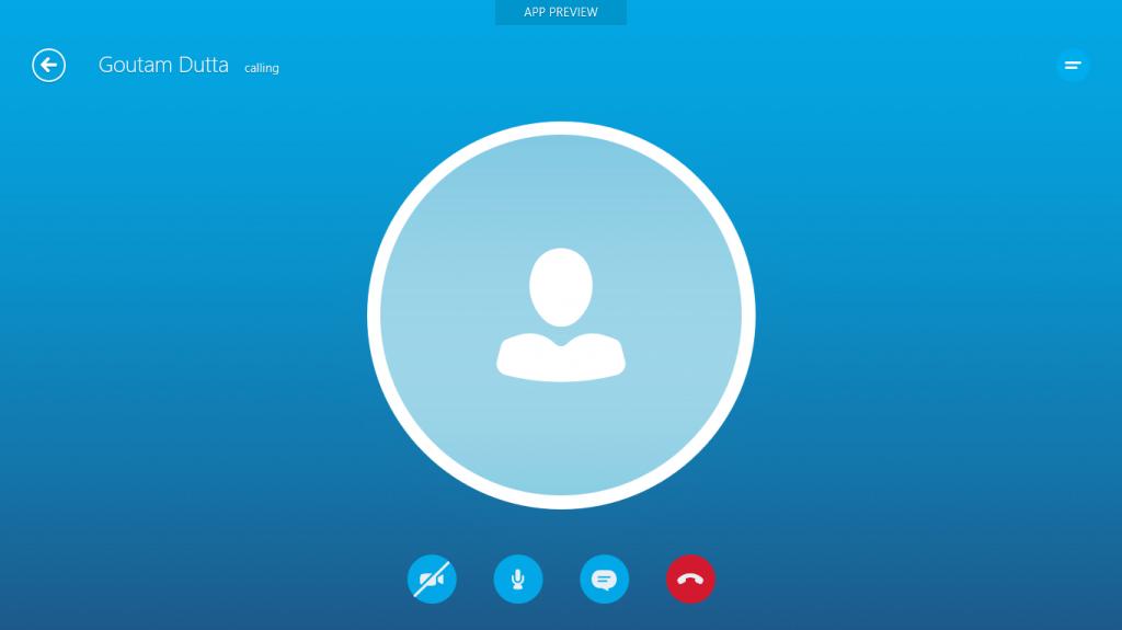 Skype Call MetroUI