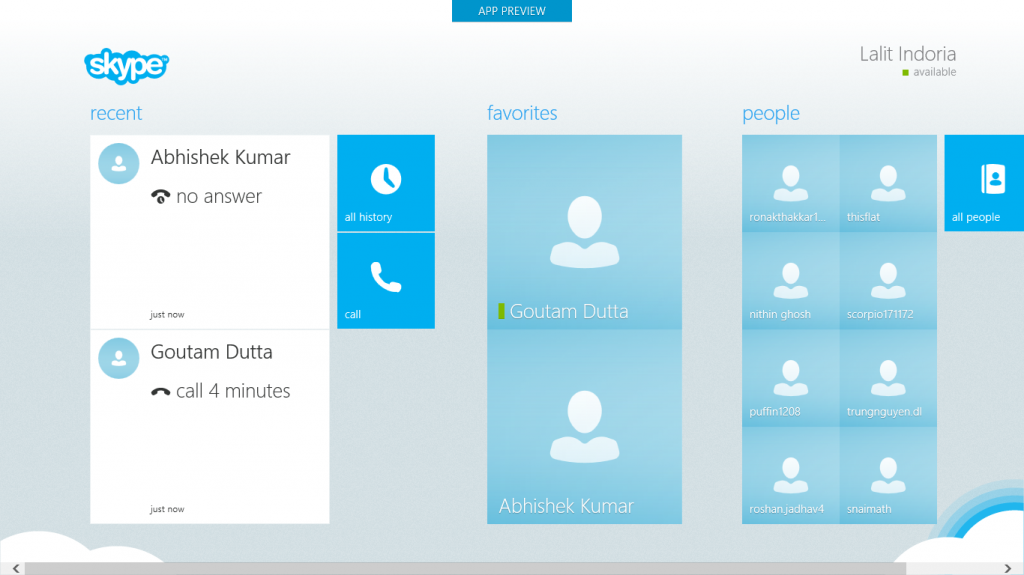 Skype Metro Contacts