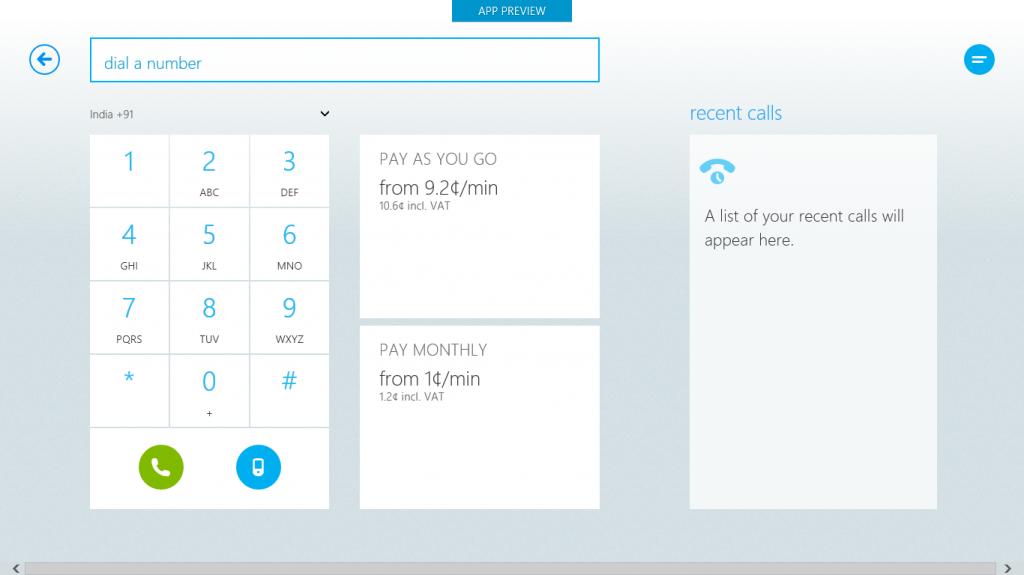 Skype Metro Dial Number