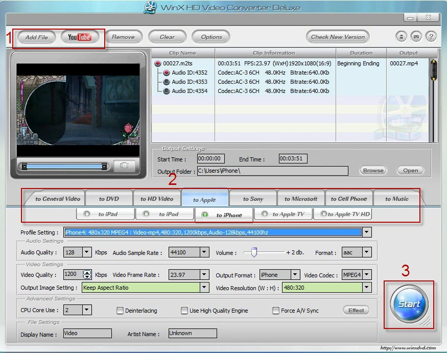 Free Download WinX HD Video Converter Deluxe V3 12 6 Full